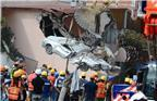当地时间2017年9月24日,墨西哥墨西哥城,在地震中被损毁的汽车。