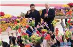 11月9日,国家主席习近平在北京人民大会堂东门外广场举行欢迎仪式,欢迎美利坚合众国总统唐纳德·特朗普对中国进行国事访问。 新华社记者李学仁摄