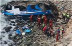 秘鲁警方表示,当地时间1月2日,一辆巴士与卡车相撞后坠落悬崖,导致至少36人丧生。