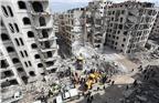 当地时间2018年4月10日,叙利亚伊德利卜,当地时间9日一座七层住宅楼发生爆炸,造成至少28人死亡,135人受伤。