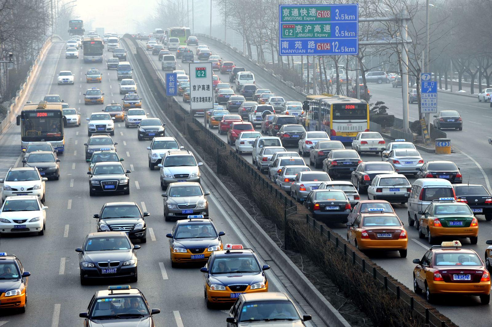 机动车尾气排放是大中城市大气污染的首要污染源.