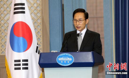 韩国前总统李明博。图片来源:CFP视觉中国