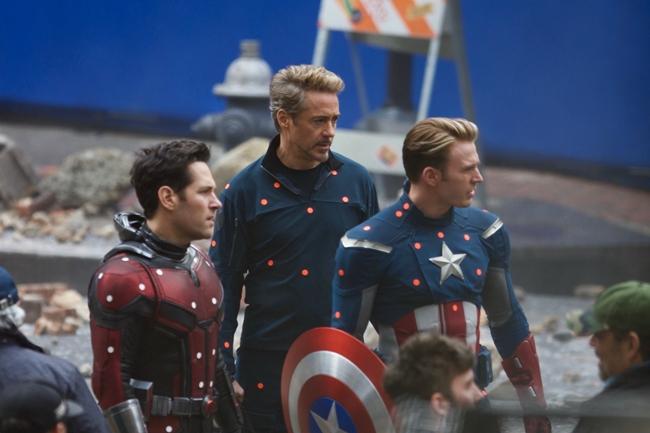 《复仇者联盟4》拍摄现场,该片将于2019年5月上映。