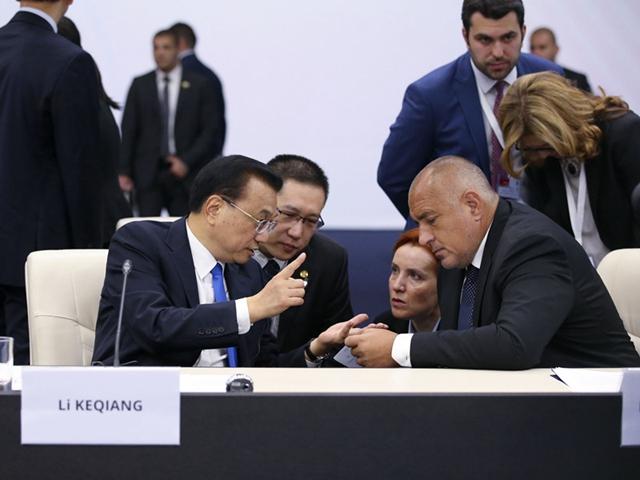 国务院总理李克强在索非亚文化宫出席第七次澳门银河唯一官网-中东欧国家领导人会晤