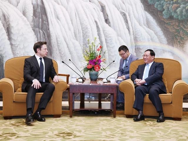 上海市委书记李强会见特斯拉董事长马斯克