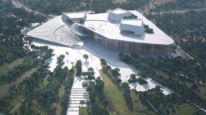 斯诺赫塔建筑事务所设计的上海大歌剧院,是未来上海最重要的文化地标之一