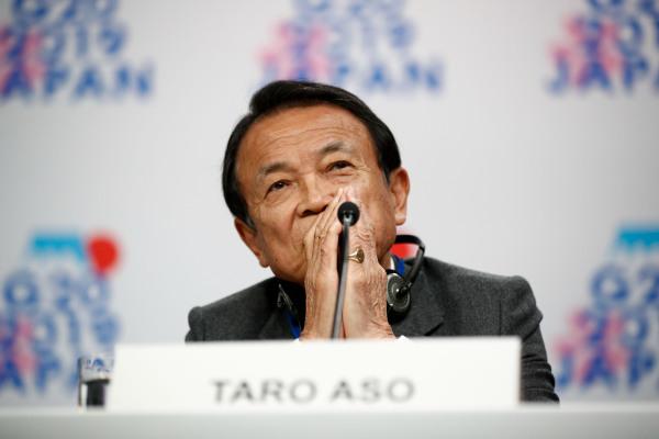 日本副首相兼财务大臣麻生太郎今年也已78岁。新华社资料图
