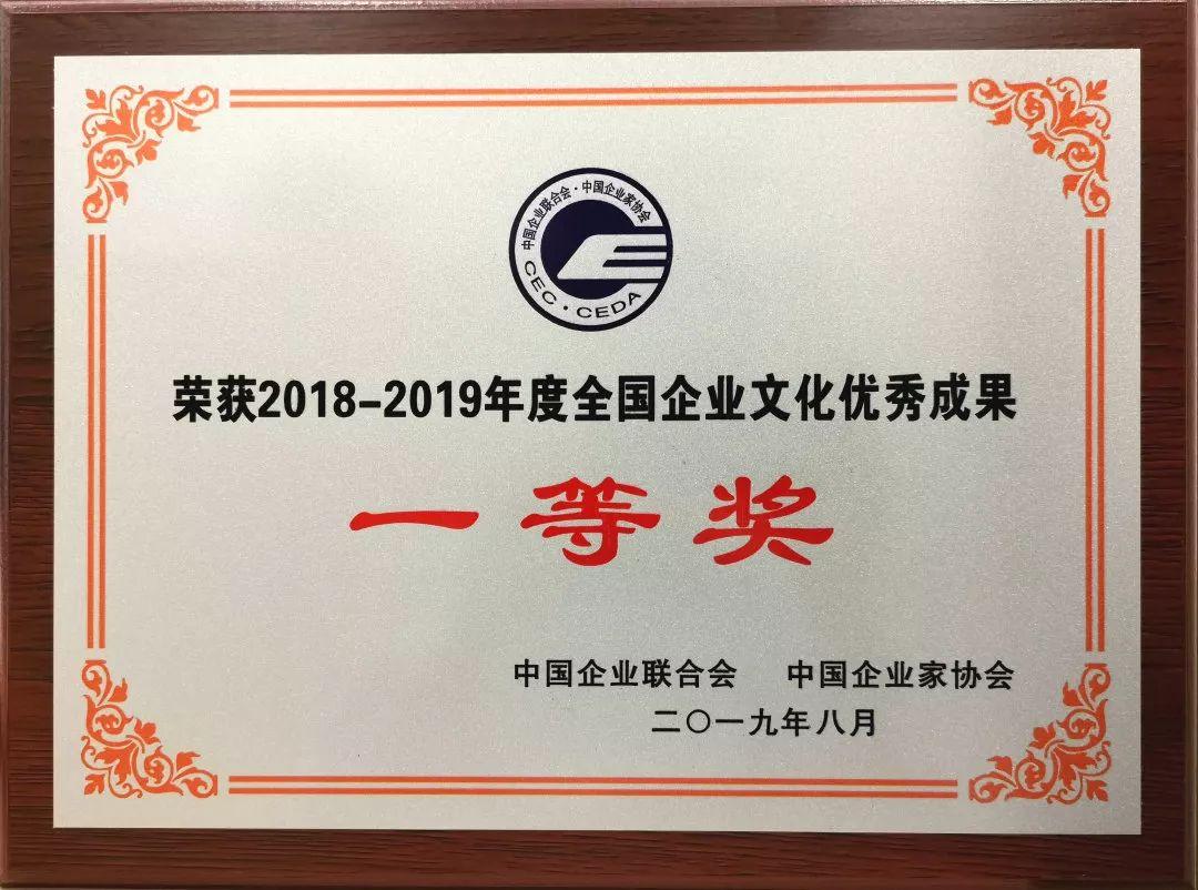 福晟集团获奖证书