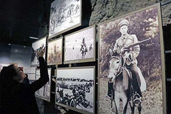 阿胶街78号内的中国阿胶博物馆,记录着阿胶产业的发展。  视觉中国图