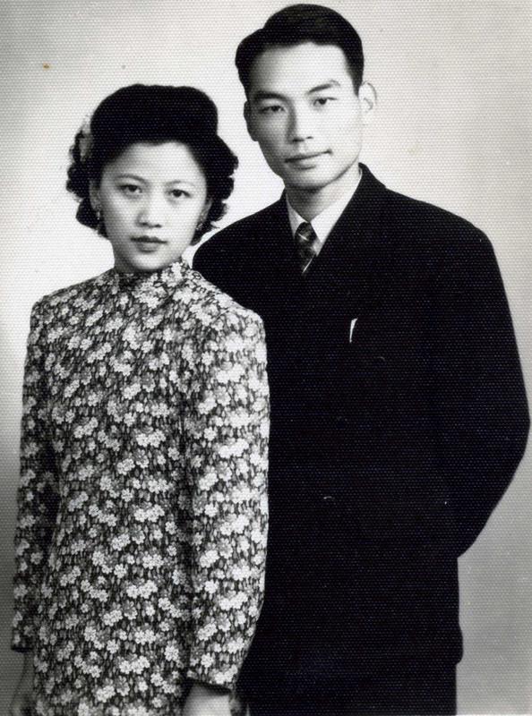 1946年,熊向晖与谌筱华订婚照