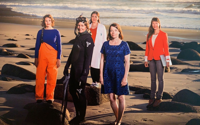 罗弗敦地区的咨询公司SALT是海洋循环经济集群(MRC)的一员。他们也会进行海滩清理工作。图为公司部分成员。