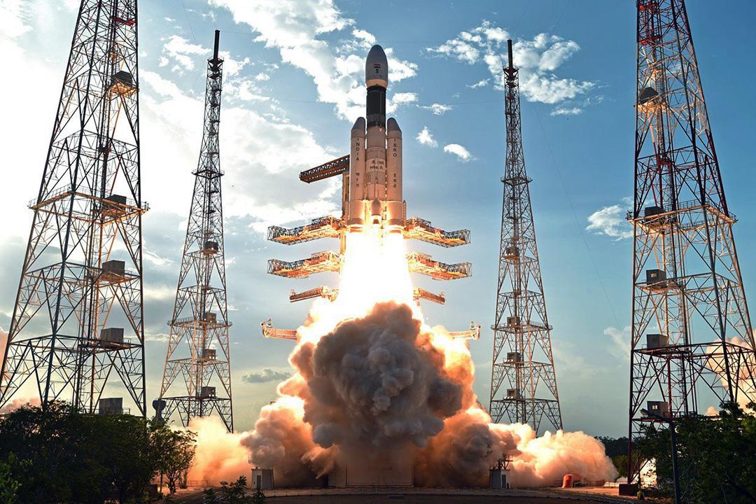 当地时间2017年6月5日,印度斯里赫里戈达岛,印度空间组织(isro)亲自