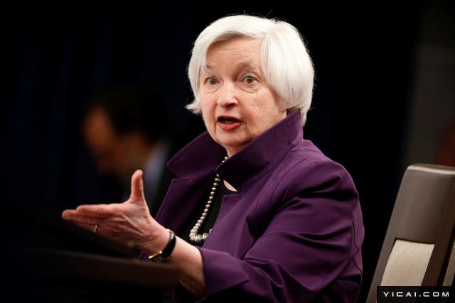 当地时间2017年6月14日,美国华盛顿,美联储主席珍妮特·耶伦在新闻发布会上发表讲话。美联储发布政策声明加息25个基点,将联邦基金利率从0.75%-1%调升到1%-1.25%。