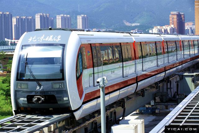 2017年8月7日,北京磁悬浮示范线,又称北京地铁S1线,北京地铁门头沟线。北京地铁S1线,目前正在轨道测试运行。是北京首条磁悬浮线路,一期工程全长10公里,起点为北京石景山区的苹果园站,终点为门头沟区的石厂站。