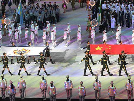 第七届世界军人运动会在武汉市隆重开幕 习近平出席开幕式并宣布运动会开幕