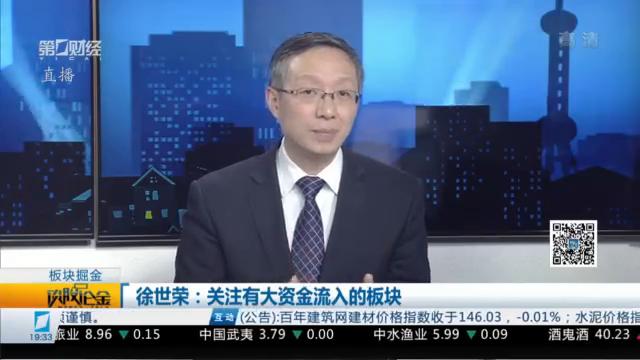 精选丨徐世荣:关注有大资金流入的这些板块