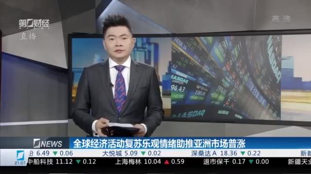 财经夜行线0604丨全球经济活动复苏乐观情绪助推亚洲市场普涨
