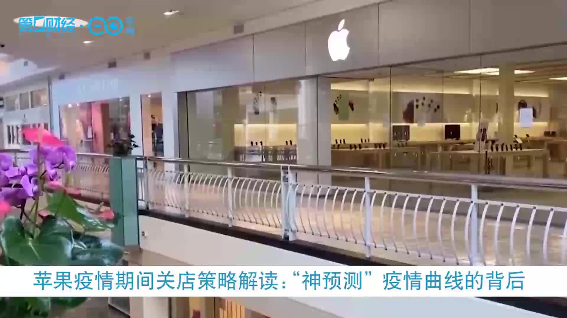 """苹果疫情期间关店策略解读:""""神预测""""疫情曲线的背后丨财经科普"""