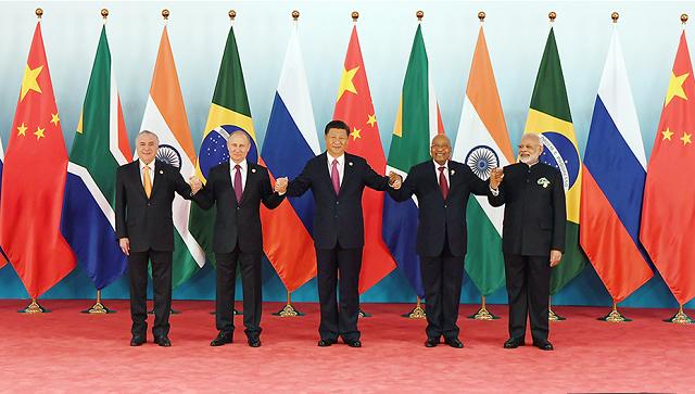 9月4日,金砖国家领导人第九次会晤在厦门国际会议中心举行。图片来源:中新社