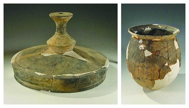 河南新密新砦遗址出土的部分陶器。