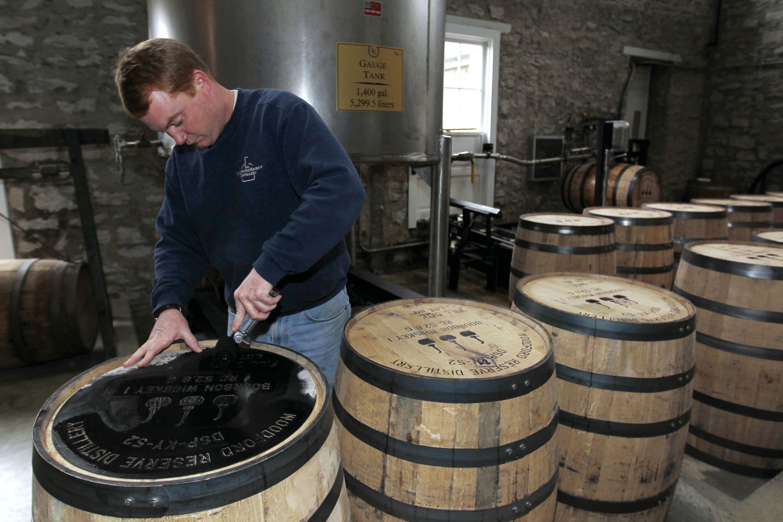 图为美国肯塔基州的一家波本威士忌工厂 图片来源:视觉中国