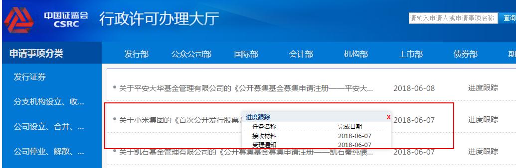 小米发行申报文件获受理 成CDR试点的首单申请