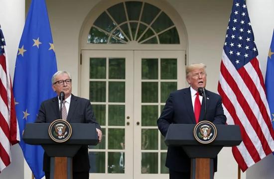 特朗普與容克在白宮舉行新聞發布會,歐美之間暫時熄火。