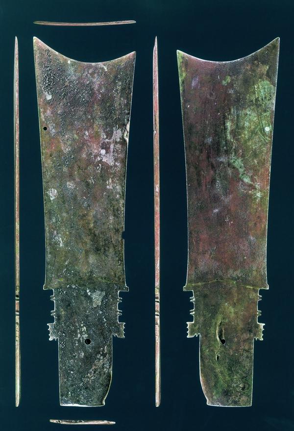 二里头遗址V M3 出土的玄圭(据《东亚牙璋图展》)