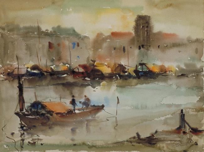 《新加坡河》,林清河,1962年
