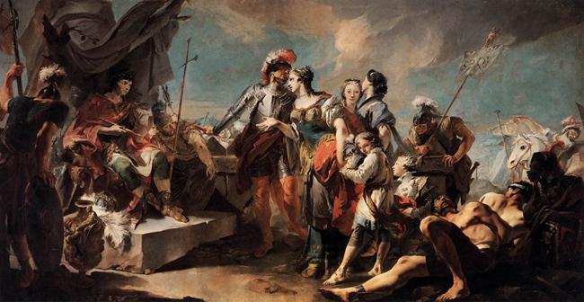 威尼斯画派巨匠提埃波罗(Giovanni Battista Tiepolo)的名画《芝诺比娅降于奥勒良》
