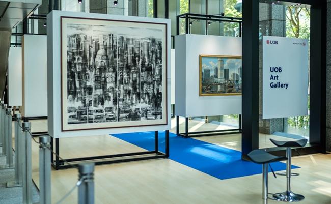 5月,POY部分獲獎作品在新加坡大華銀行大廈一座(UOB Plaza One)畫廊展出  攝影記者/王曉東