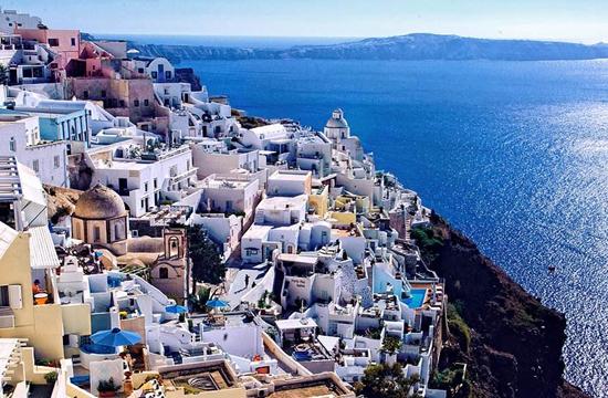 希臘旅遊勝地聖托里尼島。來源:網絡