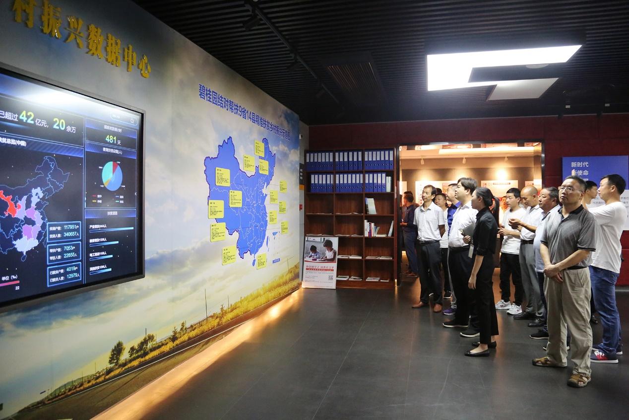 图 帮扶县两委书记参观碧桂园精准扶贫乡村振兴数据中心