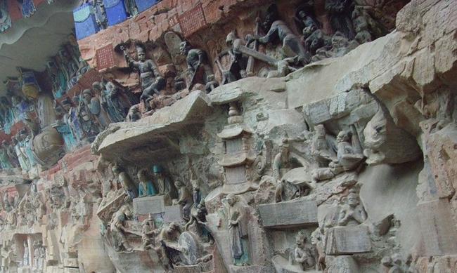 重庆大足石刻。图片来自网络
