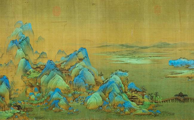 《千里江山图》是中国青绿山水画发展的里程碑。