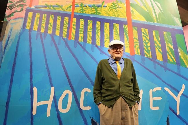"""81岁的大卫·霍克尼被称为""""英国艺术教父""""。图片来自网络"""
