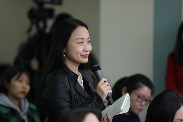 第一财经记者郭丽琴在商务部例行发布会上提问。