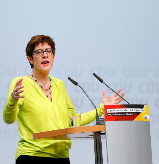 德国基民盟第八任党主席克兰普-卡伦鲍尔