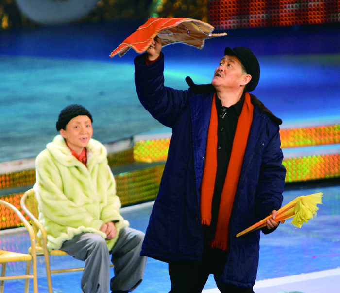 """赵本山和宋丹丹是央视春晚常客,他们塑造了深受欢迎的""""白云黑土""""夫妇。 视觉中国图"""