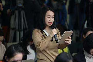 第一财经记者郭丽琴在商务部发布会提问