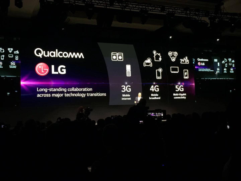 LG与高通合作推出5G通讯的智能手机。