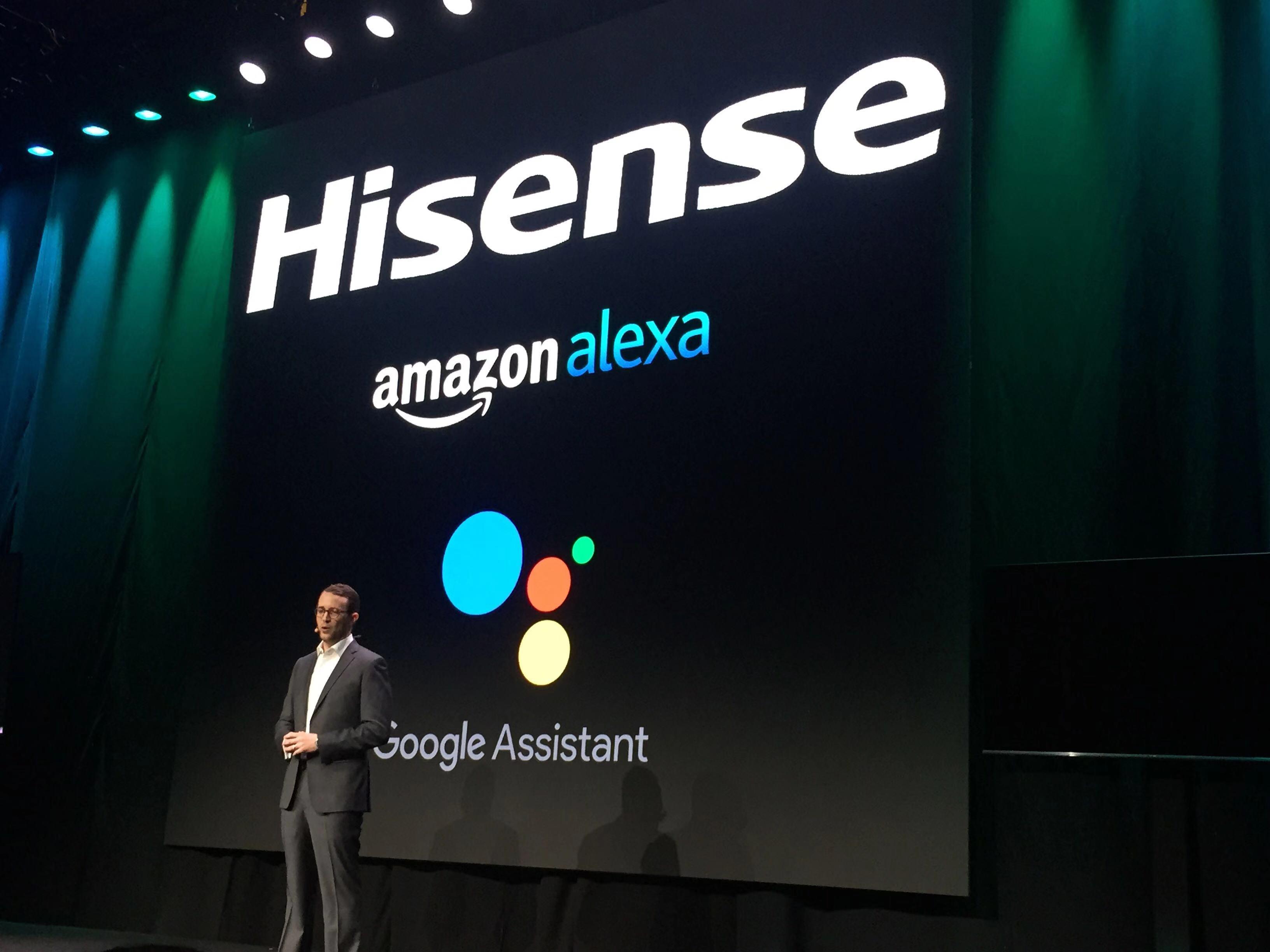 海信与亚马逊Alexa、谷歌Google Assistant两大智能语音助手合作。