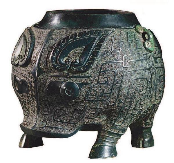 商代晚期 青铜器 猪卣