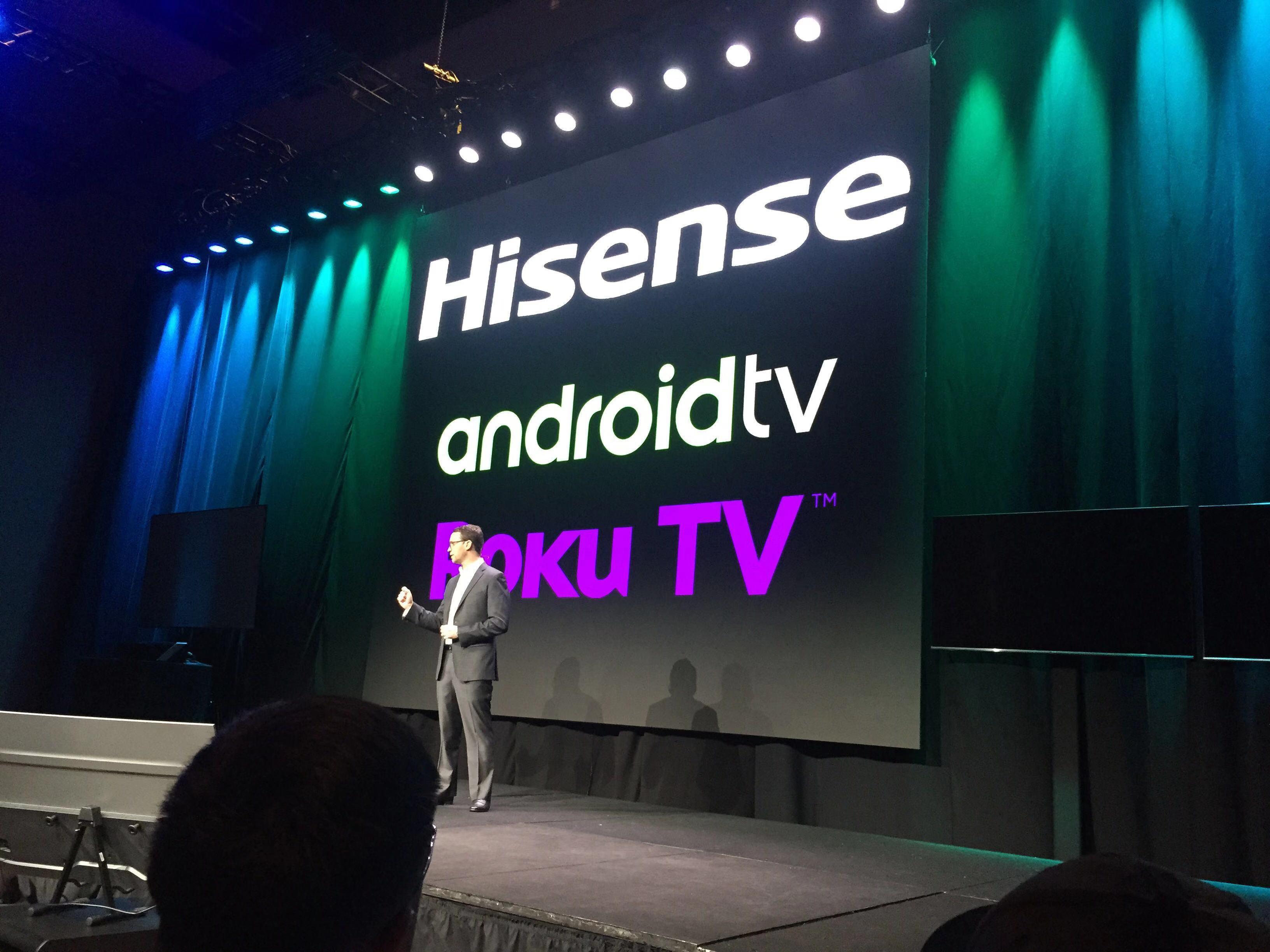 海信电视与谷歌、ROKU合作,增加内容。