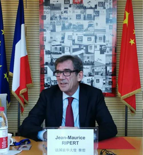 法国驻华大使黎想   ( 本报记者冯迪凡拍摄)