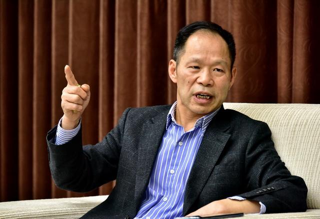 2月22日,北京碧水源科技股份有限公司董事长文剑平在接受记者采访。摄影/章轲