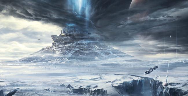 《流浪地球》的特效画面被影迷们视为?#32654;?#22366;大片级的。