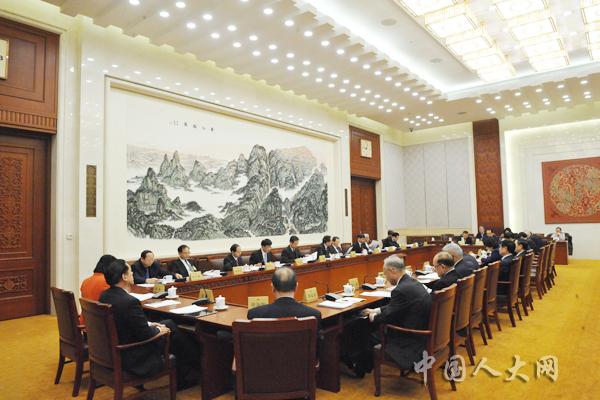 1月30日上午,十三届全国人大常委会第八次会议举行分组会议,审议外商投资法草案,拟提请表决事项。图为分组会会场。中国人大网 陶宏林 摄