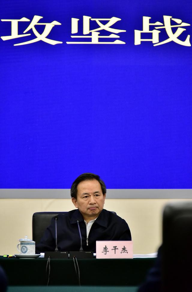 2月27日,生态环境部、发改委联合召开长江保护修复攻坚战推进视频会。图为生态环境部部长李干杰。摄影/章轲