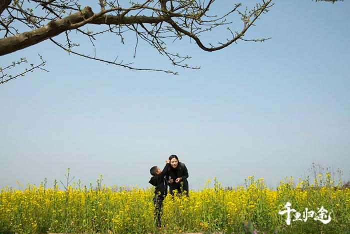 周世红跟5岁的儿子情感很益,每次检查蜂场,只要有空她都会带上儿子。摄影记者/王晓东